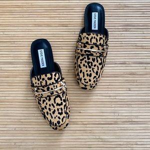 Steve Madden Leopard Calf Hair Mules